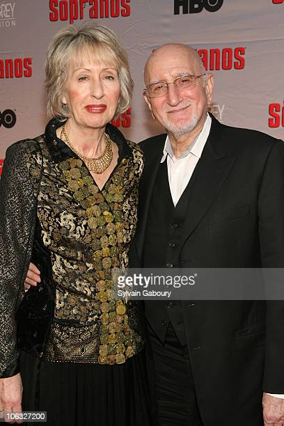Jane and Dominic Chianese during The Sopranos Final Season World Premiere Arrivals at Radio City Music Hall in New York City New York United States