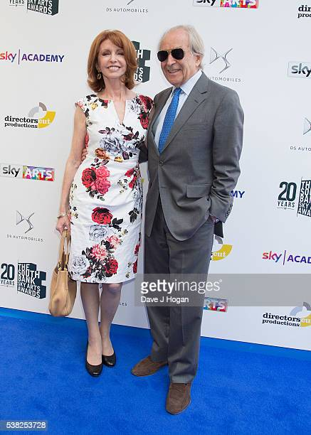 Jane Asher and Gerald Scarfe arrive for the The South Bank Sky Art Awards at The Savoy Hotel on June 5, 2016 in London, England.