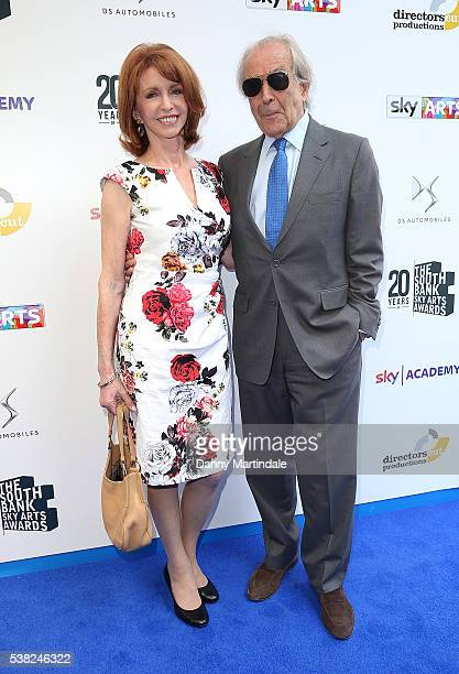 Jane Asher and Gerald Scarfe arrives for the The South Bank Awards at The Savoy Hotel on June 5, 2016 in London, England.