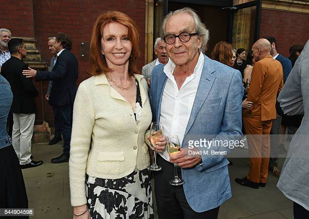 """Jane Asher and Gerald Scarfe attend the Olivier Awards Summer Party in celebration of the new exhibition """"Curtain Up"""" at The V&A on July 4, 2016 in..."""