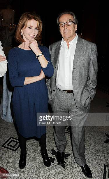 Jane Asher and husband Gerald Scarfe attend a private viewing of 'Private Eye The First 50 Years' marking the 50th anniversary of Private Eye...