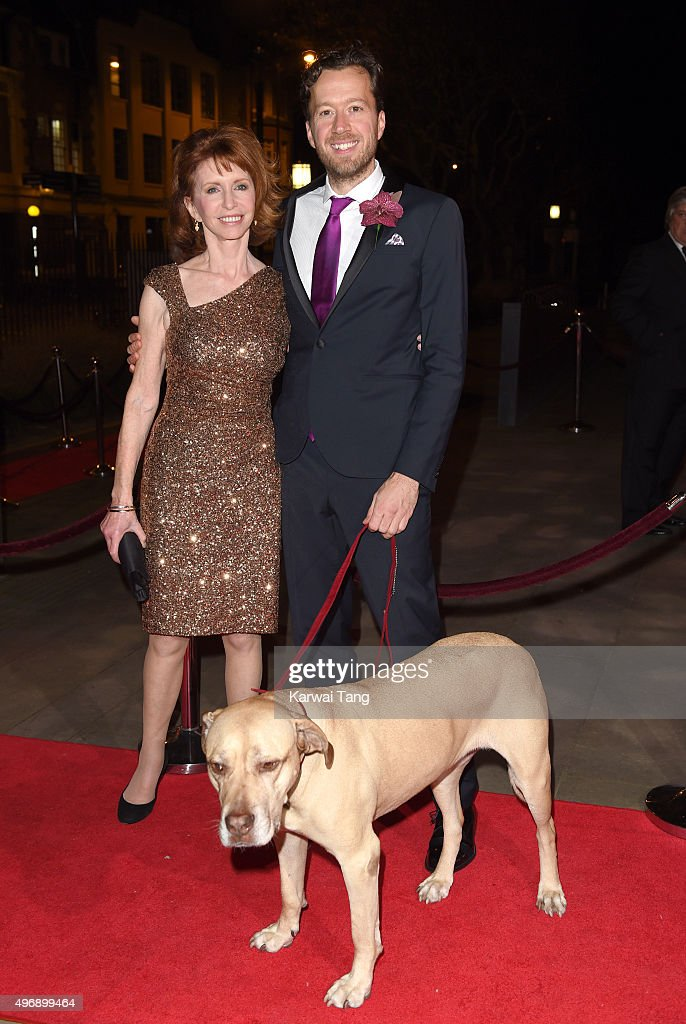 Jane Asher and Jez Bond attend the Park Theatre Annual Gala Dinner at Stoke Newington Town Hall on November 12, 2015 in London, England.