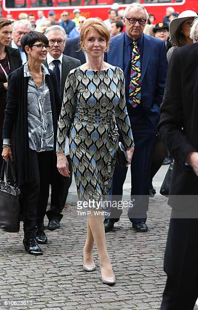 Jane Asher attends a memorial service for the late Sir Terry Wogan at Westminster Abbey on September 27, 2016 in London, England.