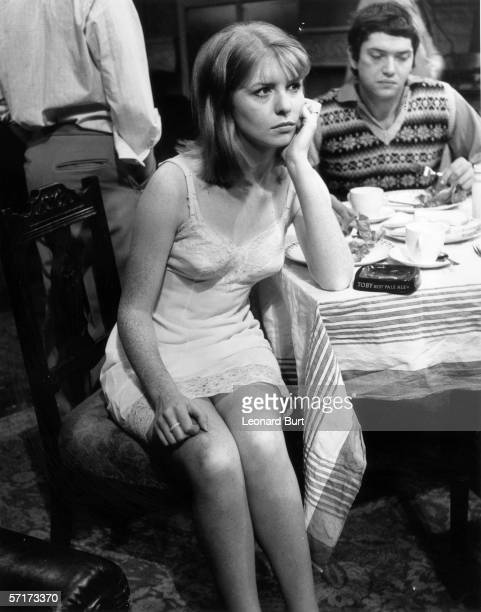 Jane Asher plays Alison Porter in a new production of John Osborne's 'Look Back in Anger' at the Royal Court Theatre 24th October 1968 Behind her is...