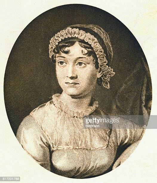 Jane Austen was an English novelist who wrote Pride and Prejudice Sense and Sensibility Emma and several other works | Detail of Portrait Engraving...