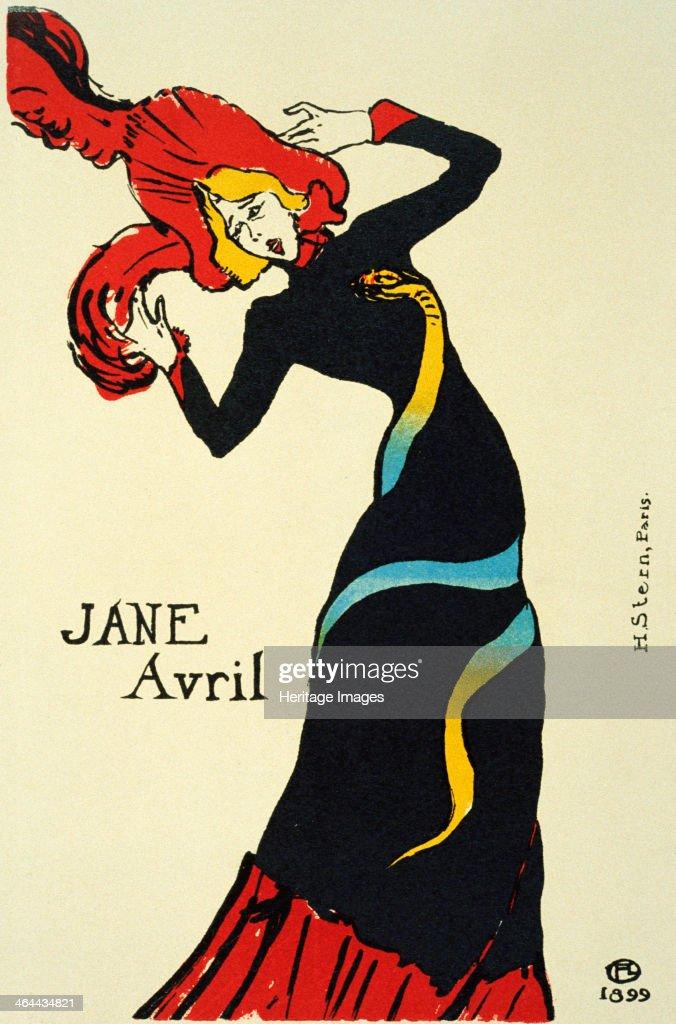 Jane Avril, 1899. Artist: Henri de Toulouse-Lautrec : News Photo
