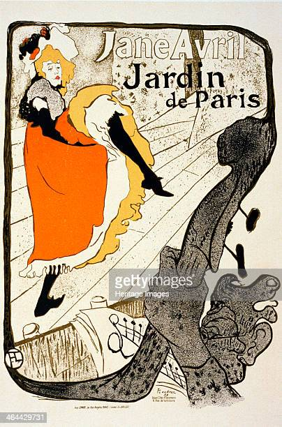 'Jane Avril at the Jardin de Paris' 1893 Poster ToulouseLautrec Henri de Found in the collection of the State A Pushkin Museum of Fine Arts Moscow