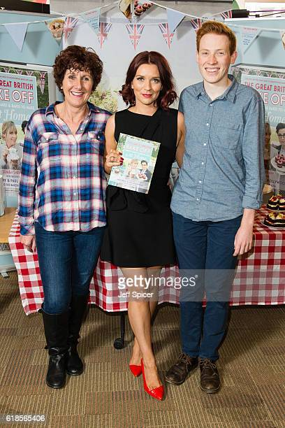 Jane Beedle Candice Brown and Andrew Smyth the Great British Bake Off finalists sign copies of 'The Great British Bake Off Perfect Cakes Bakes to...