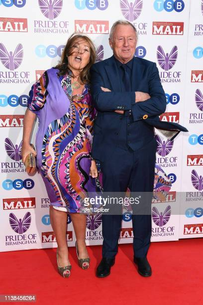 Jane Bird and Chris Tarrant attend The Pride of Birmingham Awards in partnership with TSB at University of Birmingham on March 26 2019 in Birmingham...