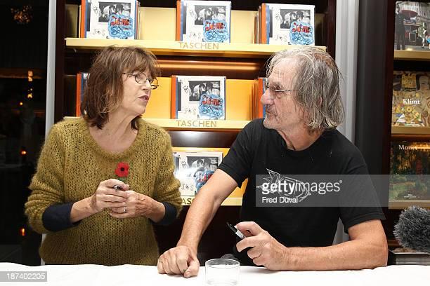 Jane Birkin and Andrew Birkin sign copies of new book 'Jane Serge' at Taschen Store on November 8 2013 in London England