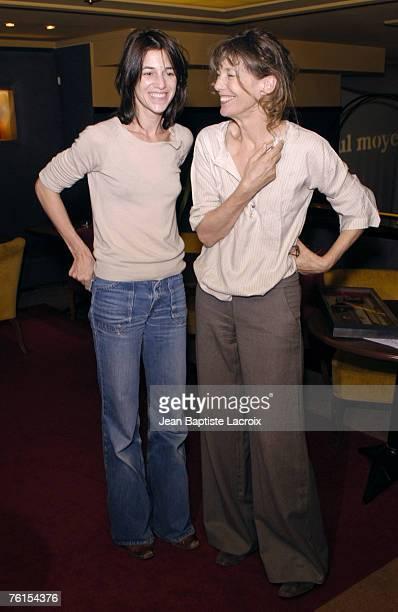 Jane Birkin and her daughter Charlotte Gainsbourg