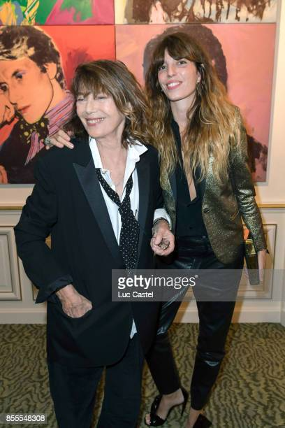 Jane Birkin and Lou Doillon attend the Opening Party at Yves Saint Laurent Museum as part of the Paris Fashion Week Womenswear Spring/Summer 2018 on...