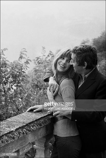 Jane Birkin and Serge Gainsbourg in Cahors France on October 06th 1969