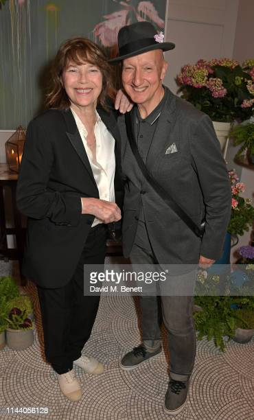 Jane Birkin and Stephen Jones attend the Belmond Cadogan Hotel Summer Salon and Grand Opening supported by London Perfumer Miller Harris in Chelsea...