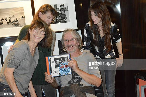 Jane Birkin Andrew Birkin Kate Barry and Charlotte Gainsbourg attend the 'Jane Et Serge A Family Album' Book Signing At Taschen Odeon on October 22...