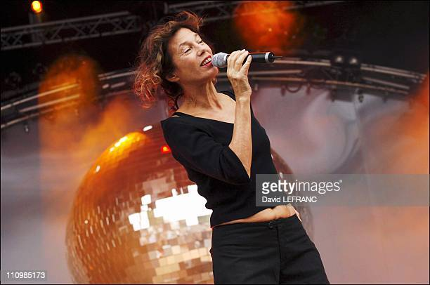 Jane Birkin at Les Vieilles Charrues Festival in Carhaix France on July 22nd 2005