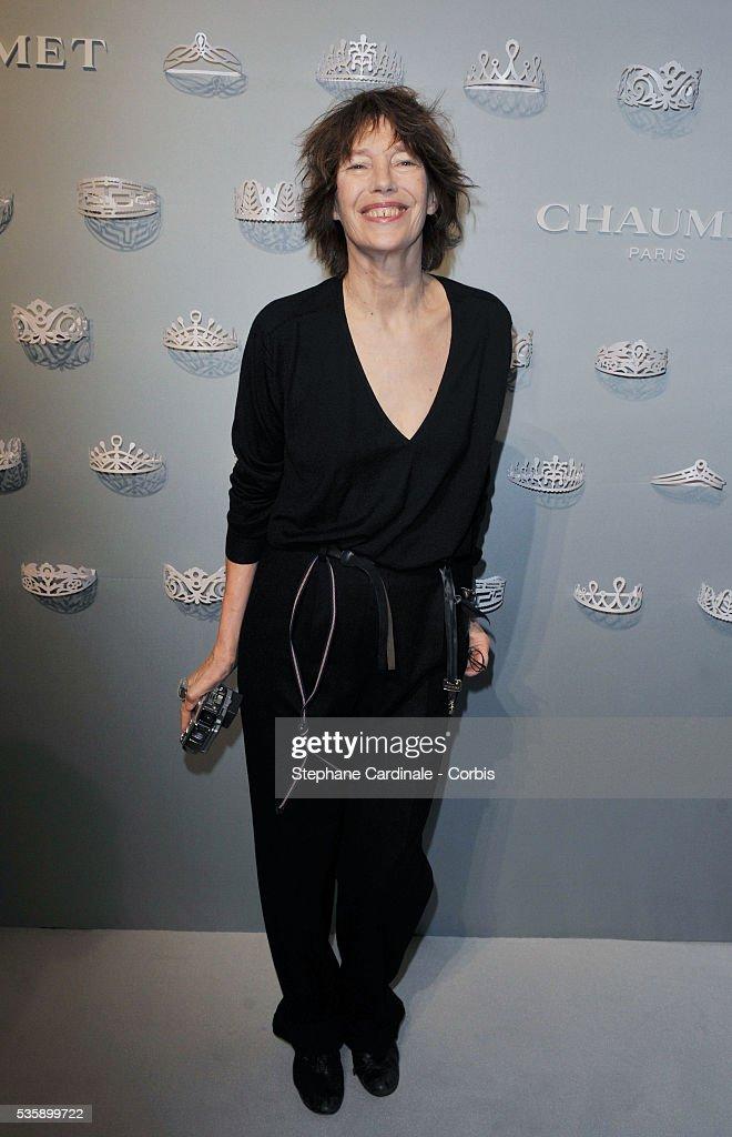 Jane Birkin attends the Chaumet Josephine Exhibition Cocktail held in the Salon Chaumet in Paris.