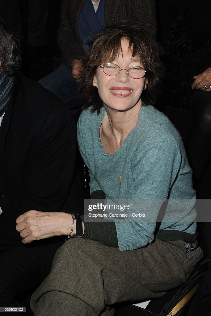 Jane Birkin attends the Hermes Ready To Wear show, as part of the Paris Fashion Week Fall/Winter 2010-2011.