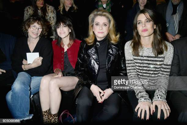 Jane Birkin Charlotte Gainsbourg Catherine Deneuve and Charlotte Casiraghi attend the Saint Laurent show as part of the Paris Fashion Week Womenswear...