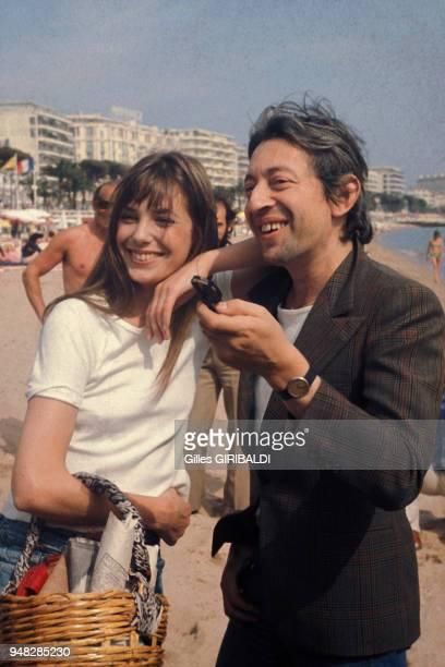 Jane Birkin et Serge Gainsbourg au Festival de Cannes en mai 1974 en France