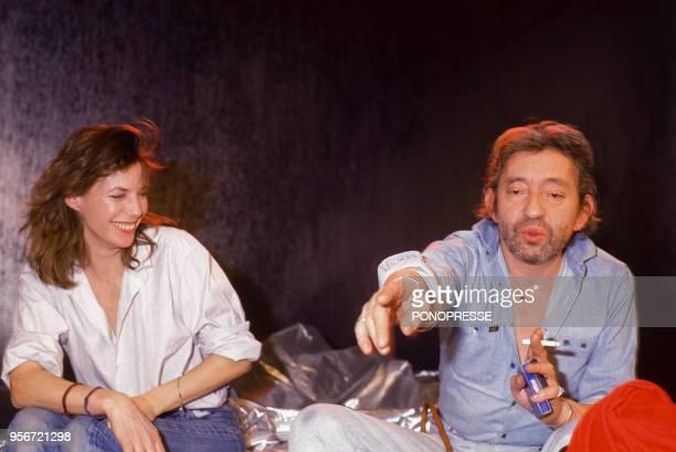 Jane Birkin et Serge Gainsbourg en février 1986 à Montréal Canada