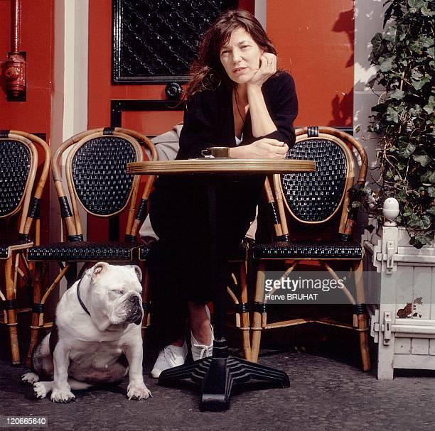 Jane Birkin in Paris France in April 1997