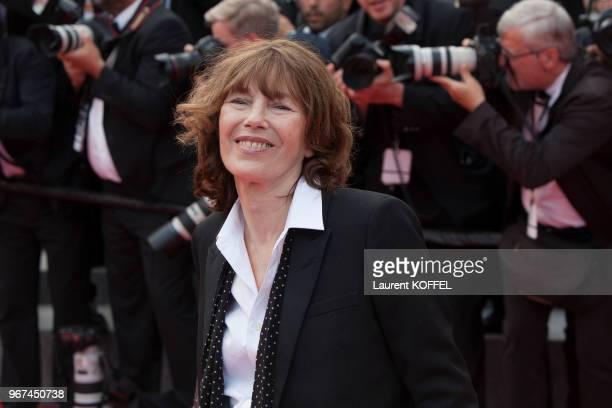 Jane Birkin lors de la première du film 'La glace et le ciel' et de la cérémonie de clôture du 68eme Festival du Film Annuel au Palais des Festivals...