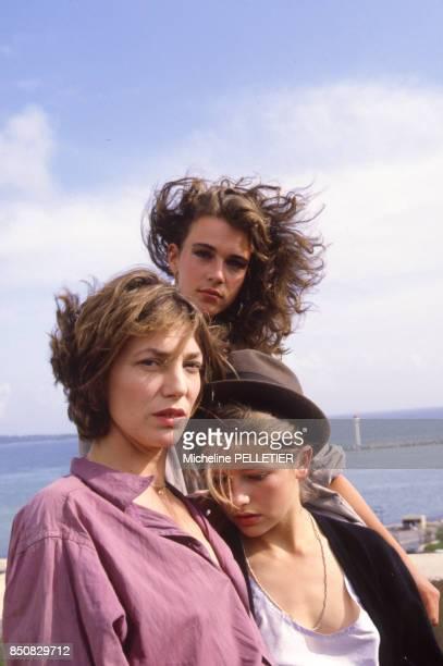 Jane Birkin Maruschka Detmers et Laure Marsac lors du Festival de Cannes en mai 1984 France
