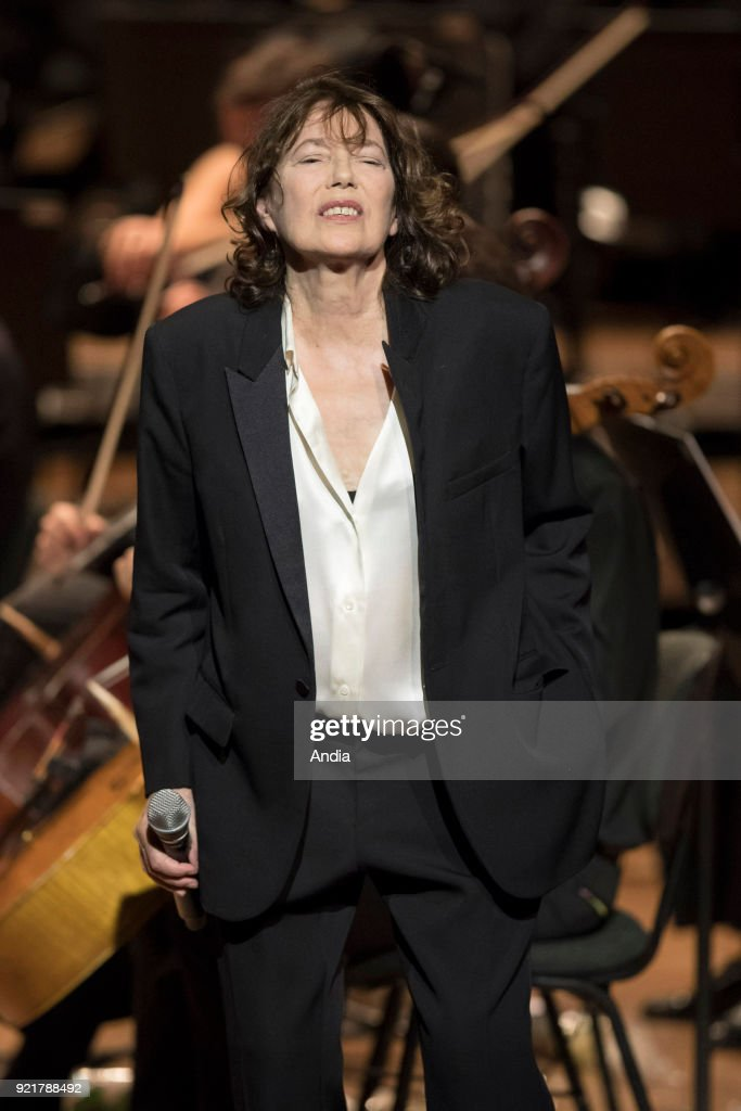 Jane Birkin on stage on the occasion of the 'Gainsbourg Symphonique' concert at Opera Garnier in Monaco on .