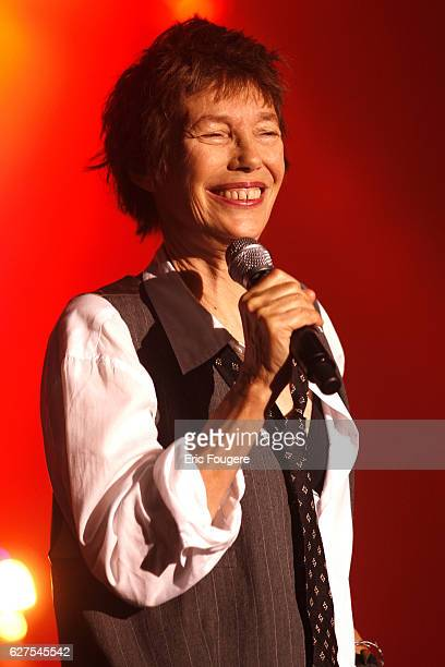 "Jane Birkin performs during ""Musik Elles"" festival in Meaux."