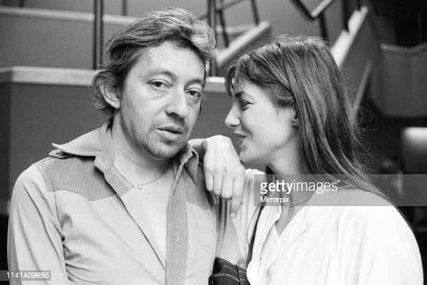 Jane Birkin Serge Gainsbourg pictured together after the UK showing of their film Je t'aime moi non plus in London Tuesday 26th April 1977 The...