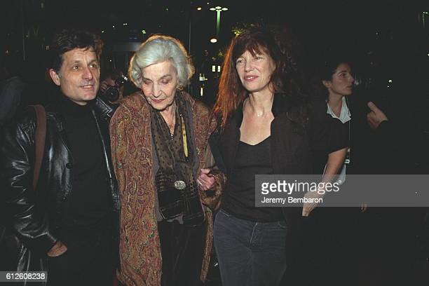 Jane Birkin with her mother Judy Campbell and an unidentified man.