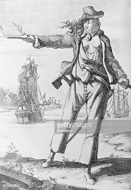 Jane Bonney West Indies woman pirate Undated engraving