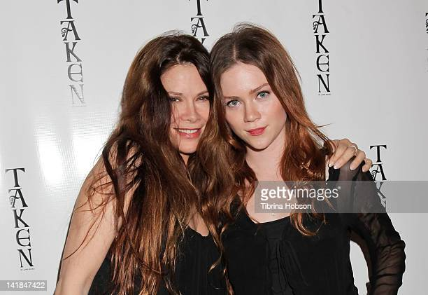 Jane Booke and Camille Cregan attend the launch party for TAKEN Scented Candle by Jane Booke on March 24 2012 in Beverly Hills California