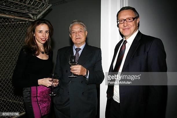 Jane Boone, George Soros and Norman Pearlstine attend DOMINIQUE LEVY, DOROTHY BERWIN and RICHARD GEOFFROY launch four extraordinary DOM PERIGNON...