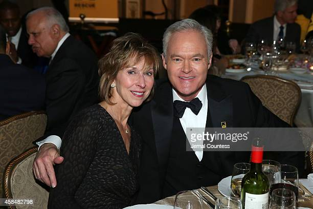 Jane Boone Pelley and journalist and news anchor Scott Pelley attend the Annual Freedom Award Benefit Event hosted by International Rescue Committee...
