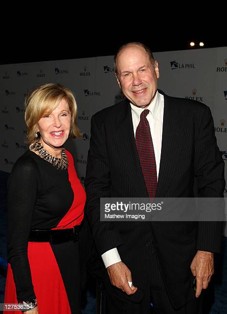 Jane Breckenridge and Michael Eisner arrive at the Los Angeles Philharmonic Opening Night Gala at Walt Disney Concert Hall on September 27 2011 in...