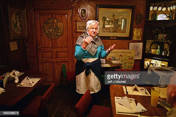 Jane Brown manager of the Globe Pub conducts a ten minute Burns Supper tour for Judith Millar and John McCormick as part of events taking place to...