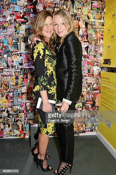 Jane Bruton and Charlie Miller attends the #Grazia10 private view an exhibition to celebrate ten years of the iconic weekly magazine with a series of...