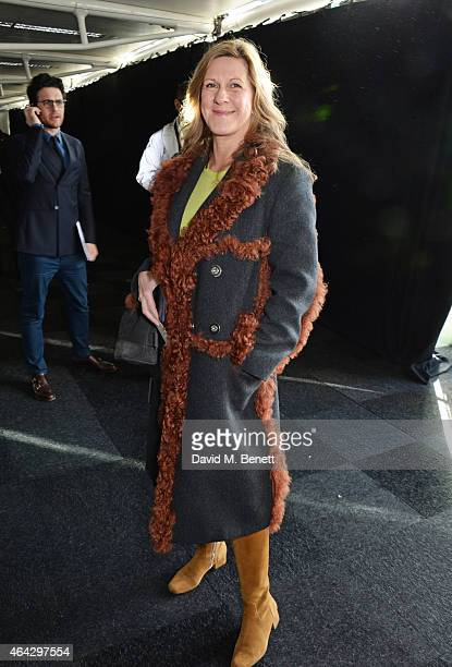 Jane Bruton attends the Anya Hindmarch AW15 Runway Show during London Fashion Week at Old Billingsgate Market on February 24 2015 in London England
