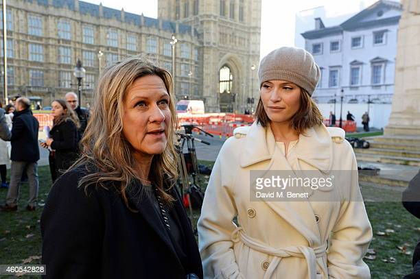 Jane Bruton editor in chief of Grazia Magazine and Gemma Arterton star of West End musical Made In Dagenham join UNITE to celebrate bringing about a...