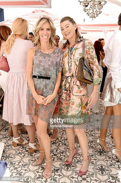 Jane Buckingham and Ellen Pompeo attend Glamour's Game Changers Lunch hosted by EditorinChief Cindi Leive Zendaya at AU FUDGE on April 20 2016 in...