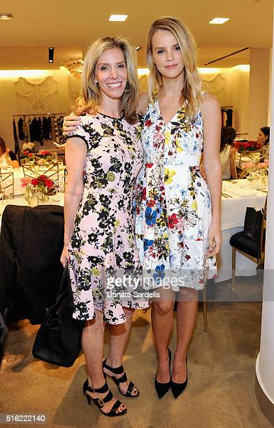 Jane Buckingham and host Kelly Sawyer Patricof attend Saks Fifth Avenue's Celebration of Jimmy Choo's 20th Anniversary and Memento Collection by...
