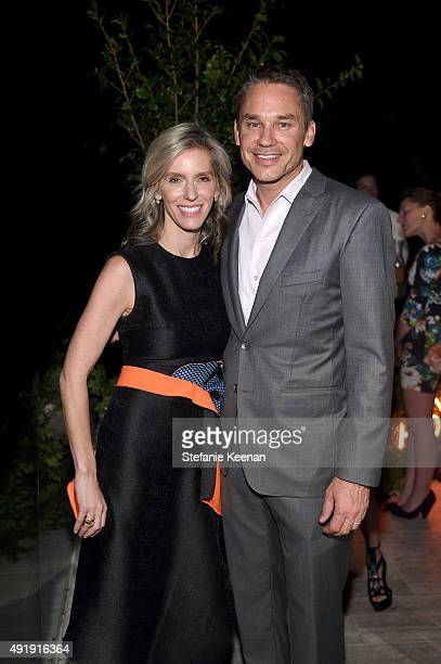 Jane Buckingham and Marcus Buckingham attend Barneys New York Private Dinner In Support of Heart of Los Angeles at the private home of Sharon and...