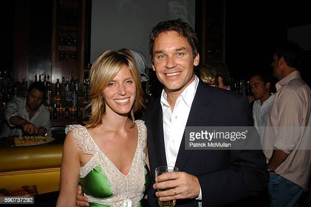 Jane Buckingham and Marcus Buckingham attend Modern Girls Guide Preview Party at Monroe's Bar on July 7 2005