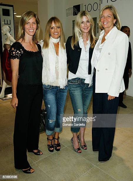 Jane Buckingham Julia Sorkin Kelly Styne and Kelly Chapman Meyer attend the Saks Fifth Avenue La Prairie event on September 17 2008 in Beverly Hills...