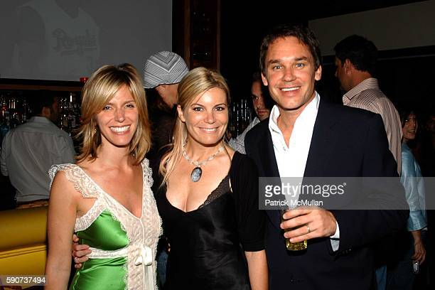 Jane Buckingham Philippa Whitfield and Marcus Buckingham attend Modern Girls Guide Preview Party at Monroe's Bar on July 7 2005