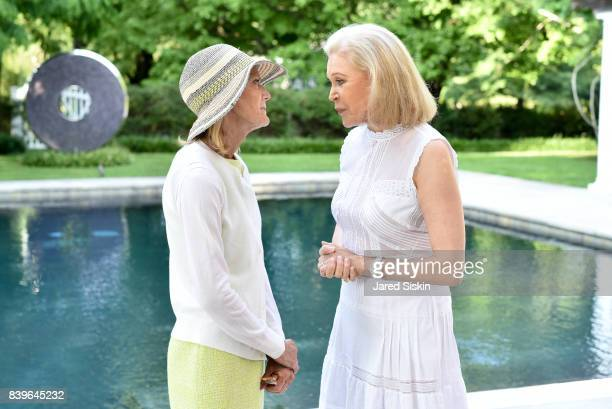 Jane Bunn and Audrey Gruss attend Audrey GrussÕs All White Tea Hamptons Hope launch at a Private Residence on August 26 2017 in Southampton New York