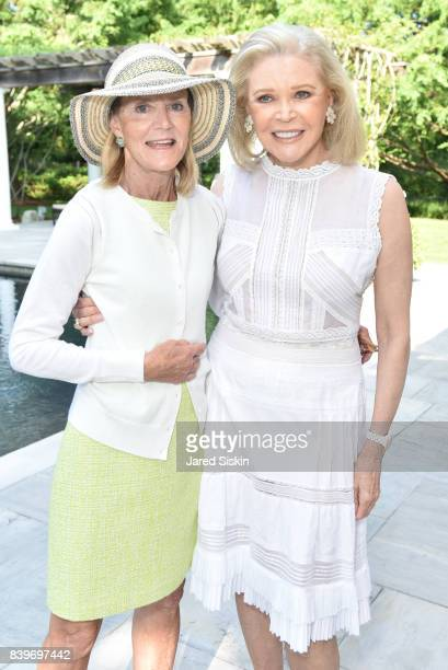 Jane Bunn and Audrey Gruss attend Audrey Gruss's All White Tea Hamptons Hope launch at a Private Residence on August 26 2017 in Southampton New York