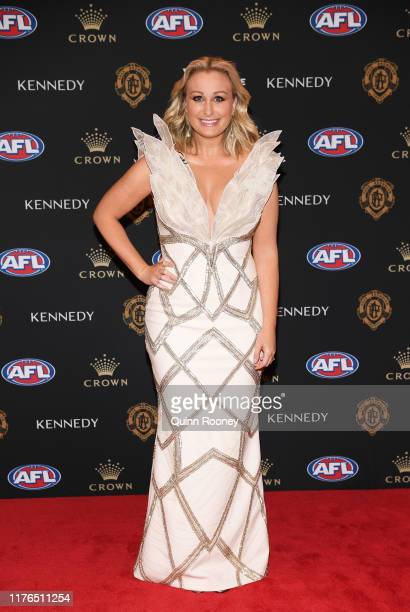 Jane Bunn arrives ahead of the 2019 Brownlow Medal at Crown Palladium on September 23 2019 in Melbourne Australia